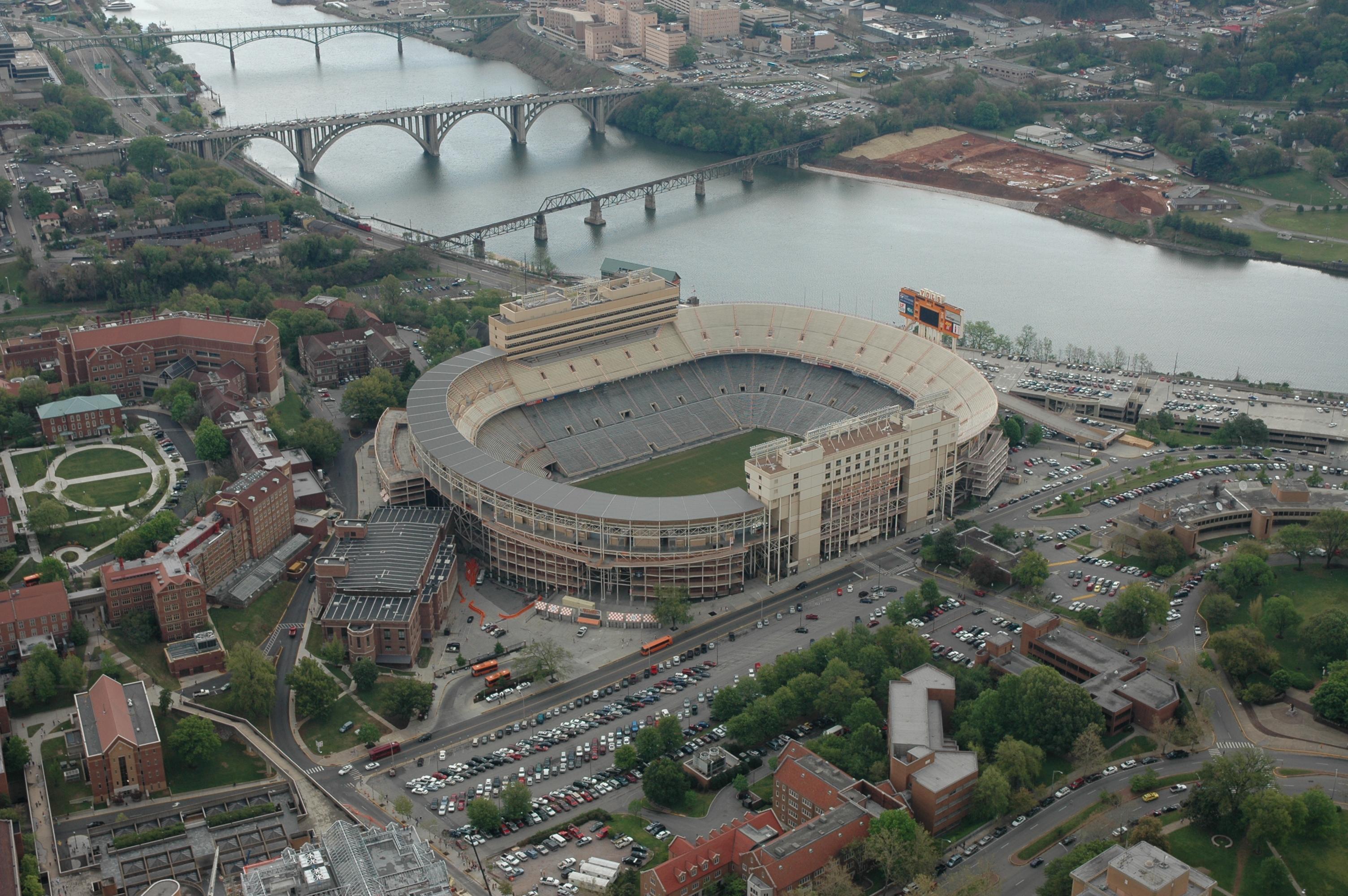 Neyland Stadium Big Orange Tennessee Football